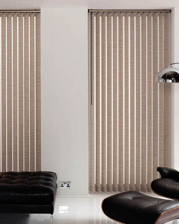 Louvolite Shantung Hessian Vertical Blinds