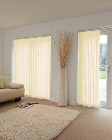 Louvolite Voile Cream Vertical Blinds