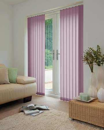 Louvolite Voile Grape Vertical Blinds