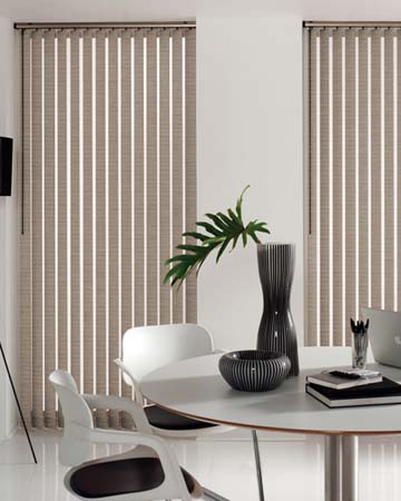 Louvolite Waffle Grey Vertical Blinds