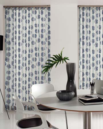 Louvolite Zeta Silver Vertical Blinds
