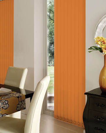 Prima Tangerine Vertical Blinds