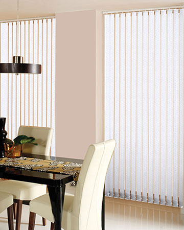 Railux Kings Texture White Vertical Blinds