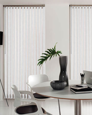 Railux Mizen White Vertical Blinds