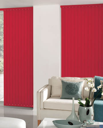 Splash Scarlett Vertical Blinds