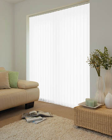 Voile White Vertical Blinds