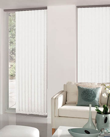 Wipeable White Vertical Blinds