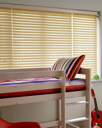Budget Cream Wooden Blinds