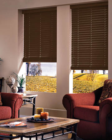 Cinnamon Wooden Blinds