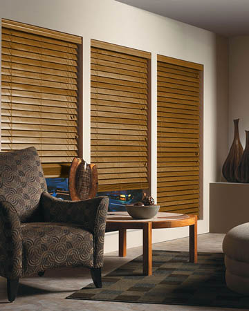 Honey Wooden Blinds