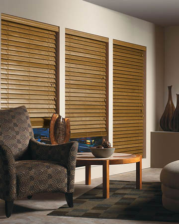Tuscan Oak Wooden Blinds