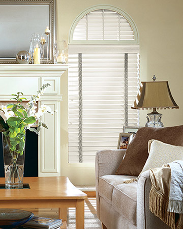 Cream Embossed Wooden Blinds
