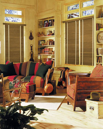 Aged Oak Wooden Blinds