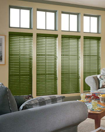 Army Green Wooden Blinds
