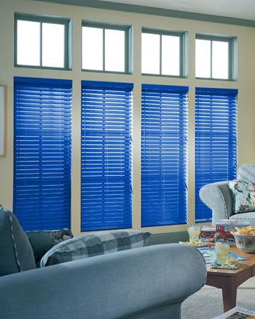 Blue Wooden Blinds