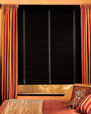 Distressed Carbonized Real Oak Wooden Blinds