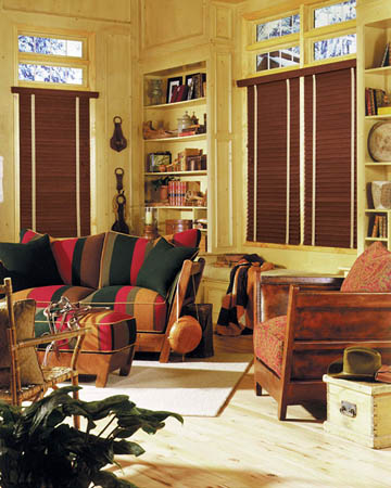 Distressed Cherry Oiled Real Oak Wooden Blinds