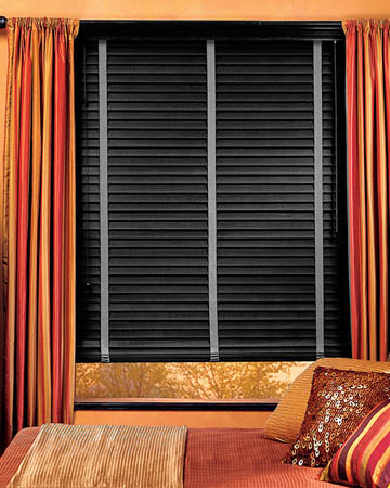 Distressed Dark Grey Varnished Real Oak Wooden Blinds