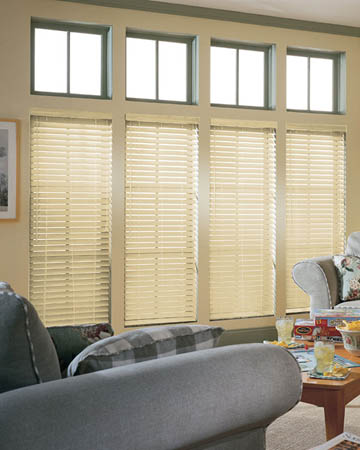 Ivory Shade Wooden Blinds