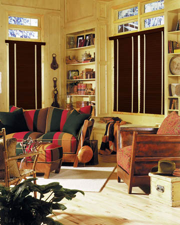 Old Cherry Wooden Blinds