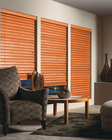 Orange Wooden Blinds