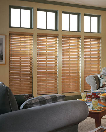 Pink Ivory Wooden Blinds