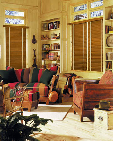 Premium Golden Oak Wooden Blinds