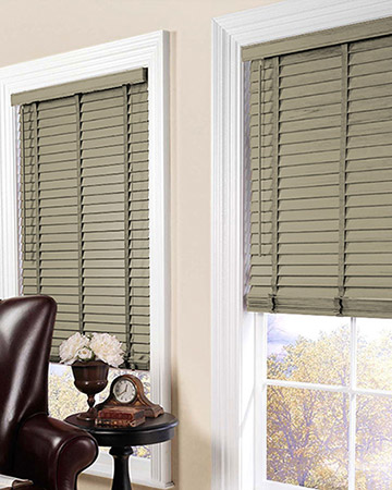 Hessian Wooden Blinds