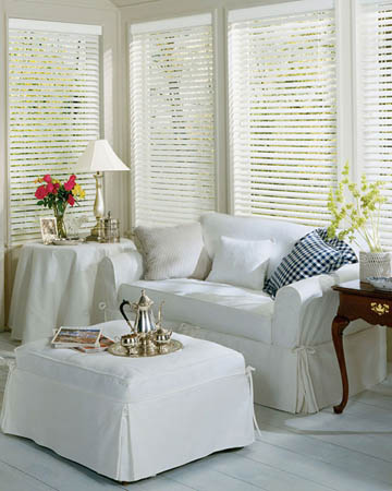 Premium White Wooden Blinds
