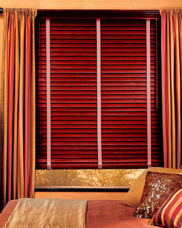 Red Rose Distressed Real Oak Wooden Blinds