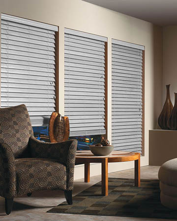 Silver Wooden Blinds