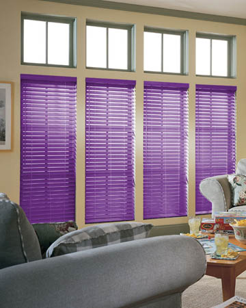 Violet Wooden Blinds